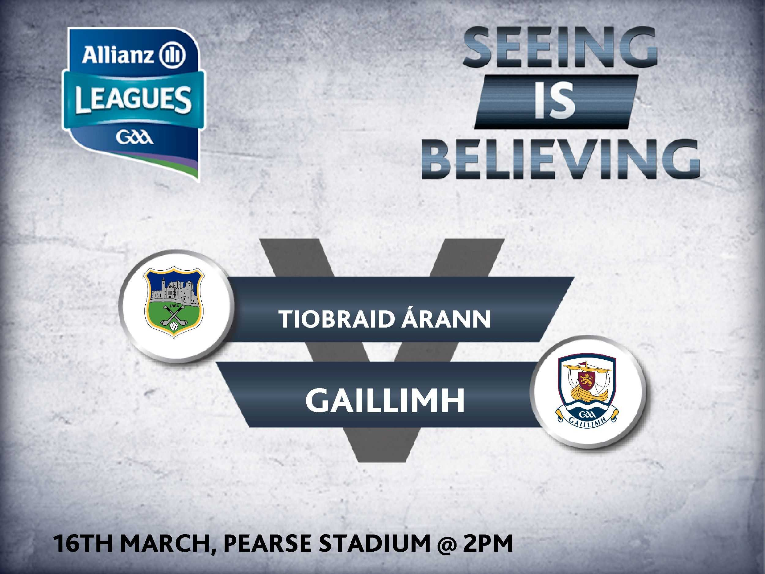 Allianz Hurling League Division 1A – Galway 3-16 Tipperary 1-19