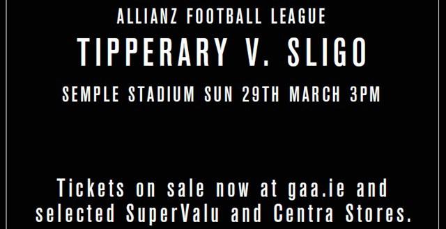 Allianz Football League Division 3 – Tipperary 0-15 Sligo 0-13
