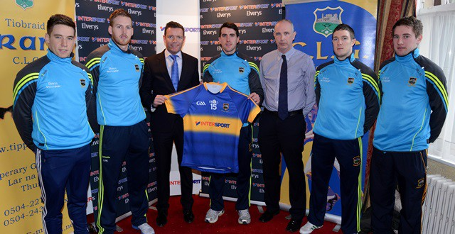 Intersport/Elverys take over Tipperary sponsorship and unveil 2015 Tipperary GAA strip