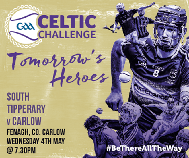 Celtic Challenge Under 17 Hurling – South Tipperary v Carlow