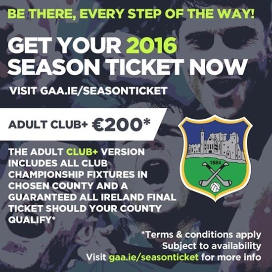 GAA Season Ticket 2016 – Tipperary