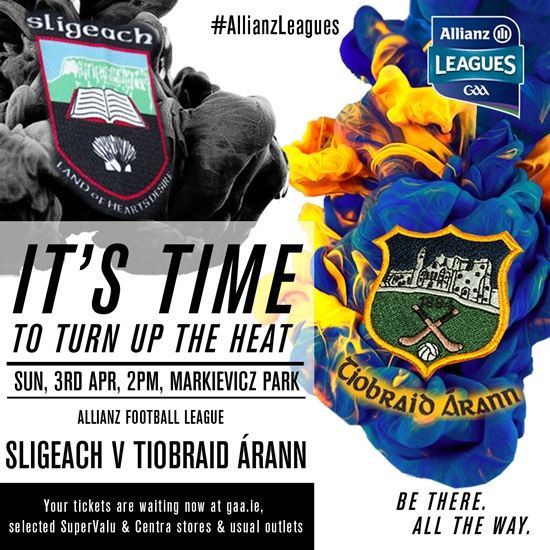 Allianz Football League Division 3 – Sligo 0-18 Tipperary 3-9