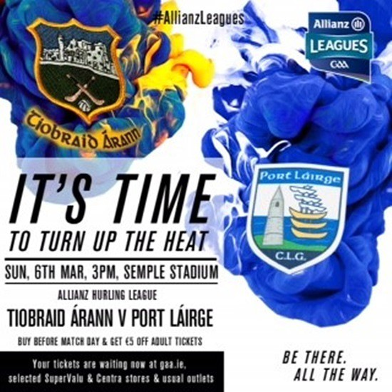 Allianz Hurling League Division 1A – Waterford 1-18 Tipperary 1-17