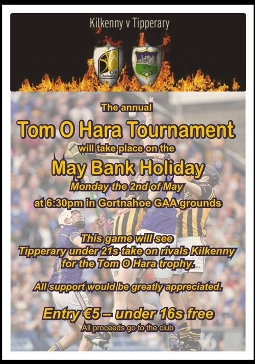 Tom O'Hara Under 21 Hurling Tournament - Tipperary v Kilkenny @ Gortnahoe | Gortnahoe | Tipperary | Ireland
