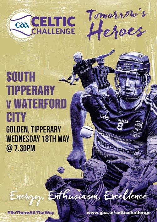 Celtic Challenge Under 17 Hurling – South Tipperary v Waterford City @ Golden | Golden | Tipperary | Ireland