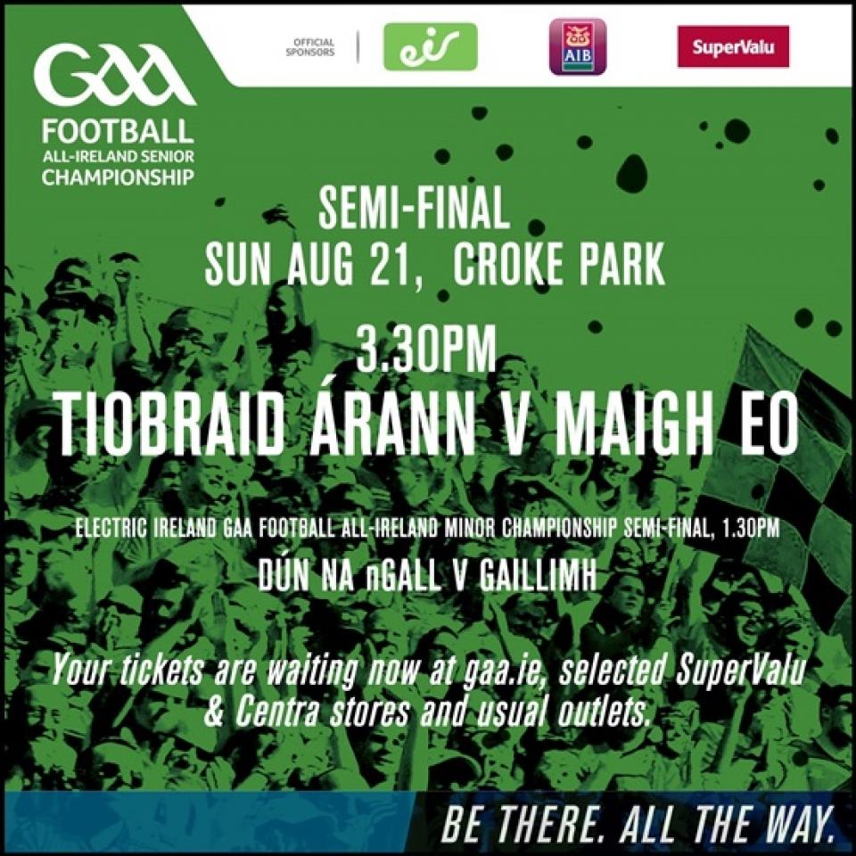All-Ireland Senior Football Championship Semi-Final – Tipperary v Mayo
