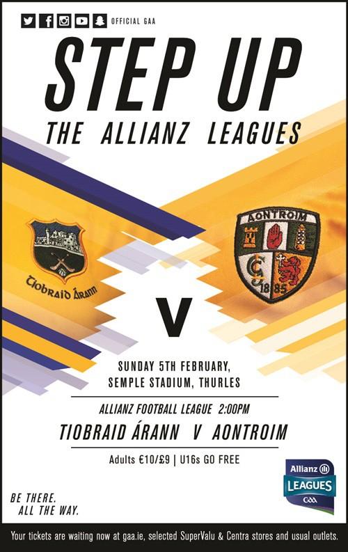 Allianz Football League Division 3 – Tipperary v Antrim