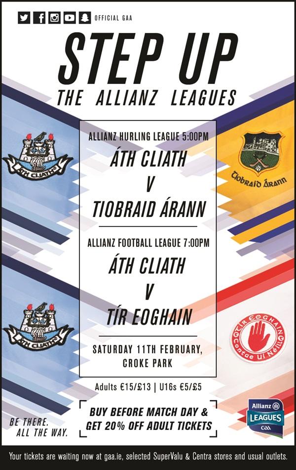 Allianz Hurling League Division 1A – Tipperary v Dublin