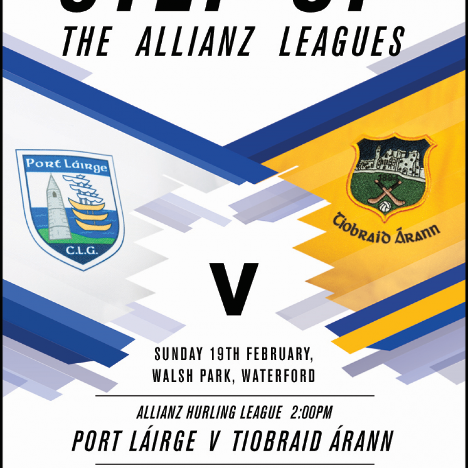Tipperary v Waterford Allianz Hurling League Division 1A Round 2