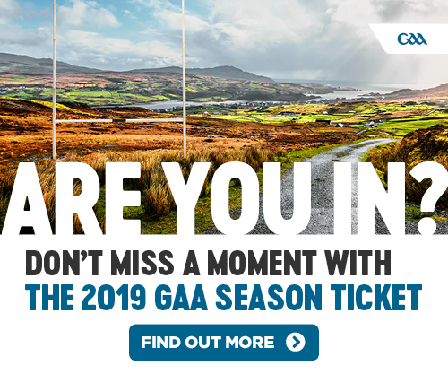 Buy or Renew your GAA Season Ticket for 2019 today